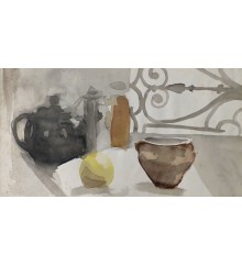 teapot and bowl