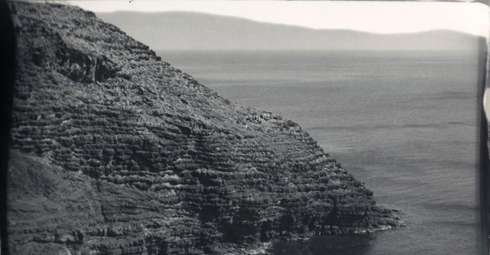 Bocca di vulcano 2  stampa in camera oscura  Tecnica a pennello su carta baritata  cm 13x18  Opera Unica di Alessandro Giuliani
