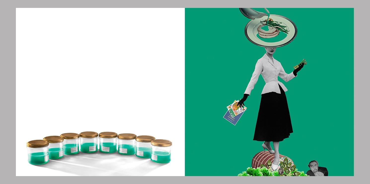 Slimer potion 12%  cm 35 x 50  Stampa cm 24x48 su carta Hahnemule Baryta 310  montata su dibond 2mm con distanziatori e cornice a cassetta americana in legno bianco opaco di Valentina Loretelli